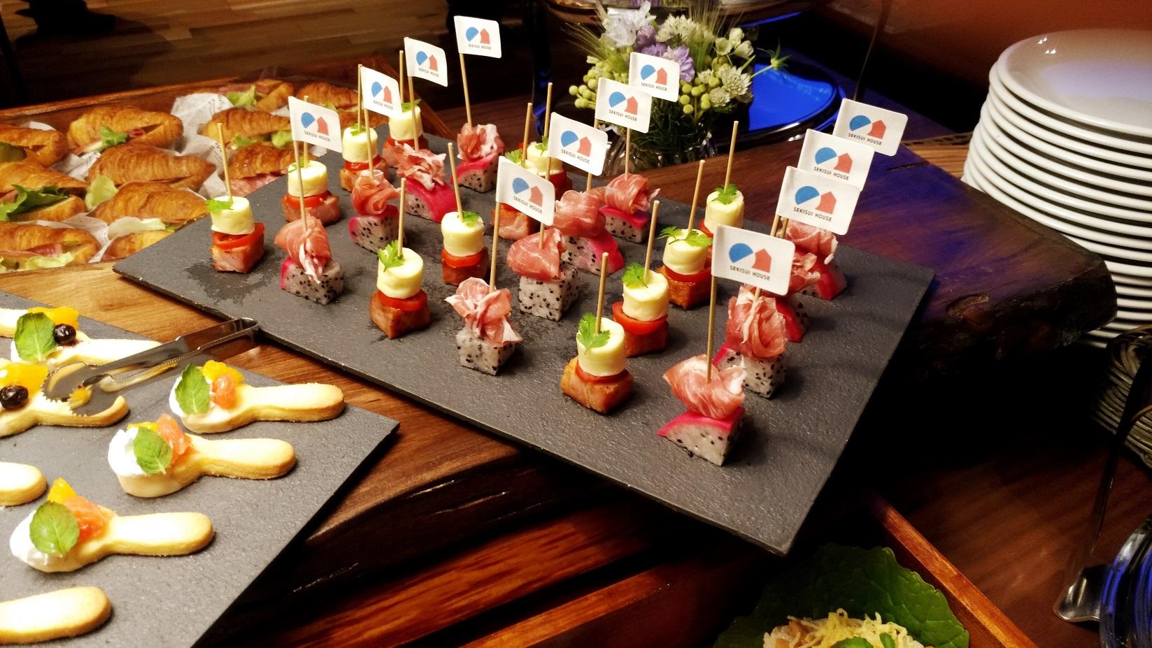 大阪住宅展示場にてお料理提供